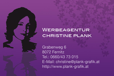 Werbeagentur Christine Plank, Kleesiedlung 4/1, 8071 Dörfla